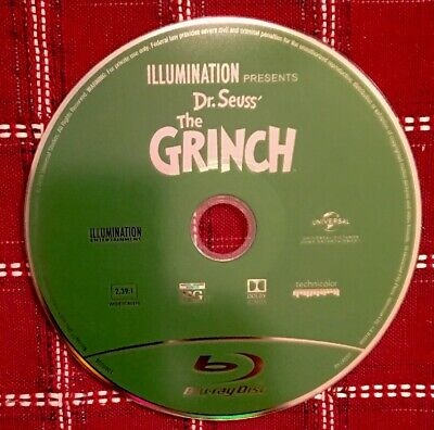 Dr. Seuss' The Grinch (Blu-Ray Disc Only 2018) No Digital Code Or Case