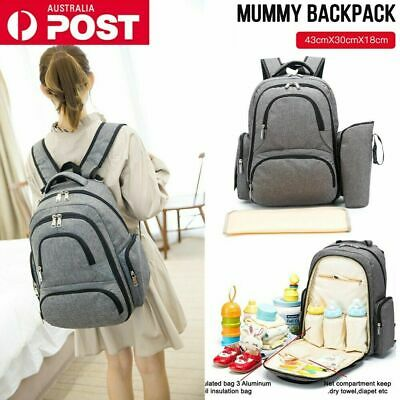 Hot Nappy Mother Mummy Backpack Diaper Bags Baby Newborn Pad Changing Shoulder B