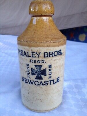 Antique Stone Bottle Healey Bros Newcastle