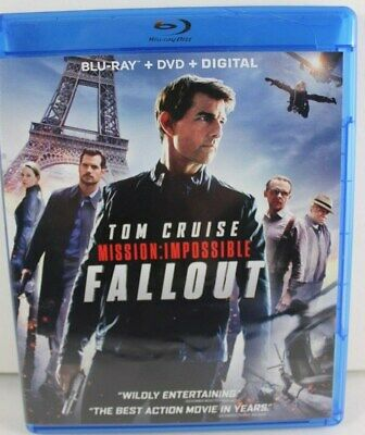 Mission Impossible FALLOUT Blu ray + DVD + Digital combo