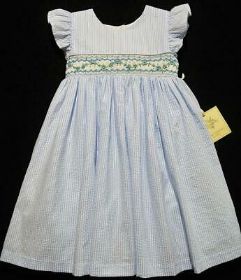 d2ee43402 Laura Ashley 24M Girls Blue Smocked Seersucker 2Pc Dress~Nwt's~Easter