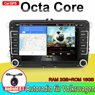 "7"" Android7.1 DVD AUTORADIO für VW T5 Seat Skoda Golf GPS MP3 USB 2G RAM 32G ROM"