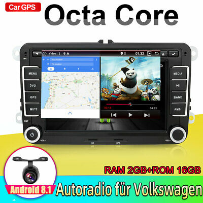 ANDROID 7.1 DVD GPS NAVI Für VW GOLF 5 6 PASSAT TIGUAN TOURAN Sharan POLO Caddy