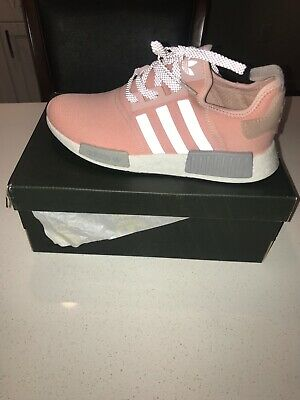 627faa2377580 NEW IN BOX adidas NMD R1 Vapour Pink Onix Gray Limited Edition Size ...