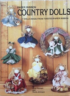 Paper Ribbon Country Dolls  - Paper Craft