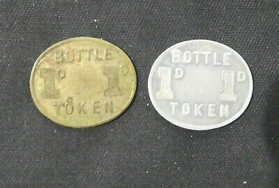 10)  -  2 x  ADFC NSW ONE PENNY BOTTLE TOKENS