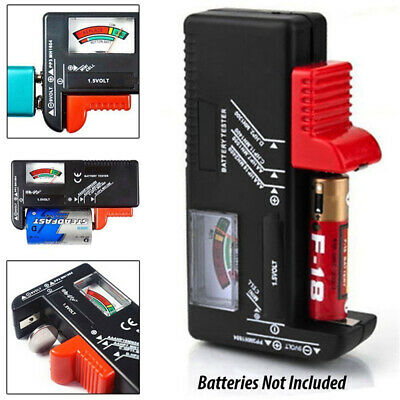 Universal Battery Tester Tool AA AAA C D 9V Button Cell Volt Tester Checker TR