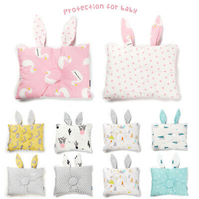 Soft Newborn Baby Infant Cotton Pillow Positioner Prevent Flat Head Anti Roll UK