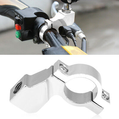 "7/8"" Motorcycle Dirt Bike ATV Handlebar Mirror Mount Clamp Bracket Adapter 10mm"