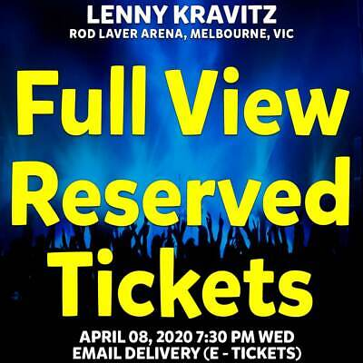 Lenny Kravitz | Melbourne | Full View Reserved Tickets | Wed 08 Apr 2020 7:30Pm