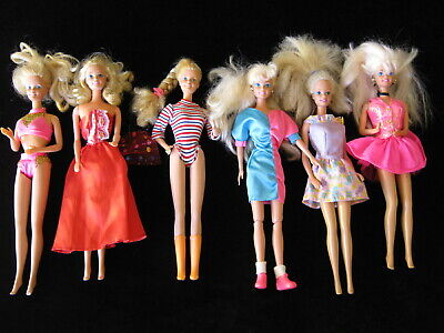 MATTEL BARBIE DOLLS QTY 6 (Set A)