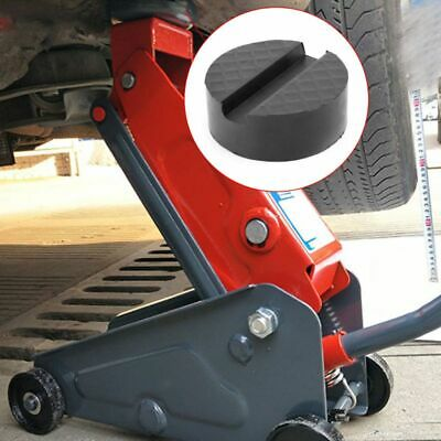 Black Car Jack Rubber Pad Anti-slip Rail Protector Support Block Heavy Duty