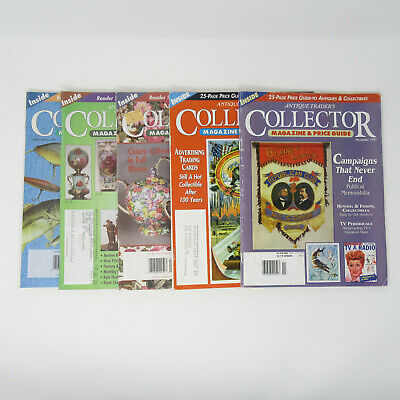 Antique Trader's Collector Magazine's & Price Guide Lot of 5 Back Issues 1995-99
