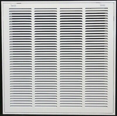 "25"" x 18"" Steel Return Air Filter Grill for 1"" Filter - Removable Face/Do... New"