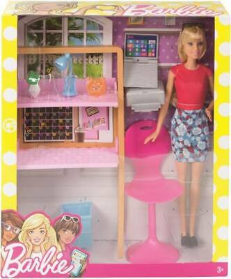 NEW Barbie Room And Doll from Mr Toys