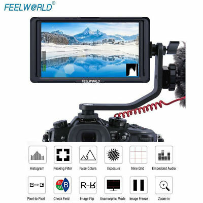 "Feelworld F6S HDMI 5"" IPS 4K Full HD LED Backlight Camera Monitor fr DSLR Camera"