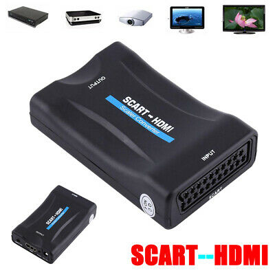 1080P Scart To HDMI Video Audio Upscaler Converter Adapter For HD DVD Sky TV Box