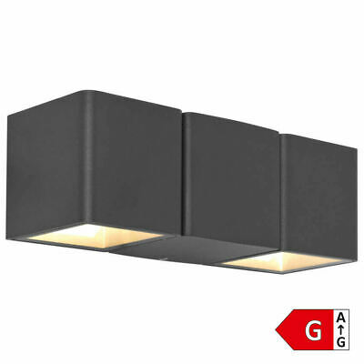 6w Led Ip54 Up Down Wall Light Black With Adjustable Beam