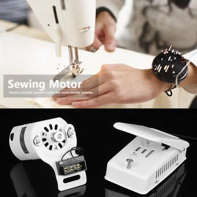 100W Domestic Sewing Machine Motor, Foot Control Pedal, Universal Fitting White