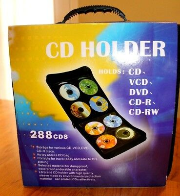 Disc CD Holder DVD Case Storage Holds 288 Media Organizer Nylon Zipper Bag NEW