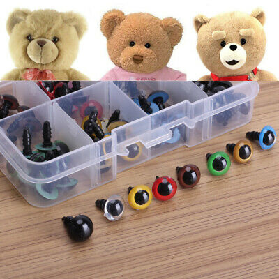 80pcs 8 Mixed Color Plastic Safety Eyes Washers for Animal Toy Teddy Bear NEA