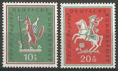 Germany (West) 1958 MNH - Students' Fund Fox stole the Goose, Hunter Palatinate
