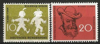 Germany (West) 1958 MNH - Death Anniversary Writer Wilhelm Busch -Max and Moritz