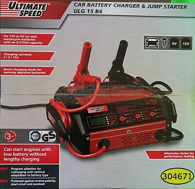 Ultimate speed car battery charger and jump starter ULG 15 B4