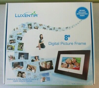 "Luxentia 8"" Digital Picture Frame New In Box"