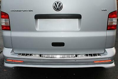 FIT FOR VW T6 TRANSPORTER//CARAVELLEChrome Rear Bumper Protector Guard S.Steel