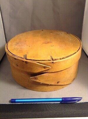 Antique Primitive Country Round Bentwood Shaker Pantry Cheese Box Wood