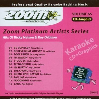 Zoom Karaoke Platinum Artists Series Volume 65 Hits Of Ricky Nelson CD + G New