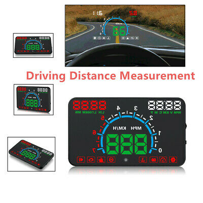 5.8'' Car HUD Head-Up Display Speedometer Vehicle Speed Windshield Projector