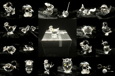 Wide Choice Of Swarovski Crystal Mini Figures With An Unbranded Silver Gift Box