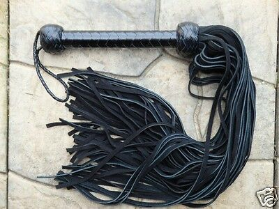 NEW RED MR THUDDY Black PREMIUM Leather Flogger AMAZING HORSE TRAINING TOOL