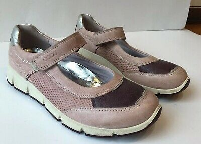 Details about Ecco Baby Girl Peekaboo Leather Shoes Sandals Pink White Gr.19