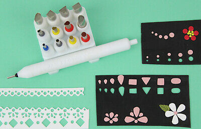 PAC-Pen Set - Plunger Hole Cutter Polymer Clay Artist Tool 2-9mm