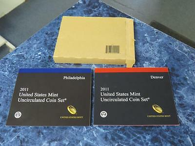 2011 P & D United States Mint Uncirculated Coin Set (28 coins)