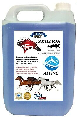 Stallion by Fresh Pet Stable Cleaner Disinfectant Mucking Out 5L - Alpine