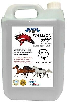 Stallion by Fresh Pet Stable Cleaner Disinfectant Mucking Out 5L - Cotton Fresh