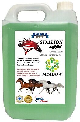 Stallion by Fresh Pet Stable Cleaner Disinfectant Mucking Out 5L - Meadow