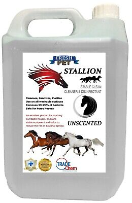 Stallion by Fresh Pet Stable Cleaner Disinfectant Mucking Out 5L - Unscented