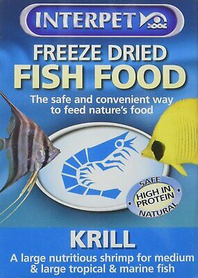 Interpet Freeze Dried Fish Food Krill Bloodworm River Shrimp Tubifex Daphnia