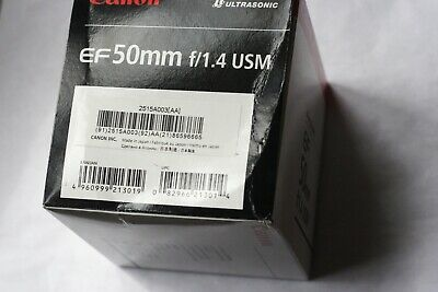 Canon ef 50mm, f1.4 USM Lens Box only  NO LENS INCLUDED