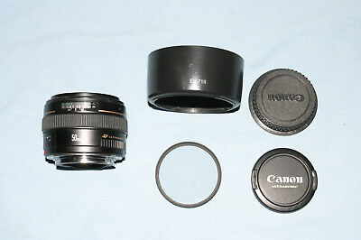 CANON EF 50MM f/1.4 USM LENS PLUS USED 58MM CANON FILTER
