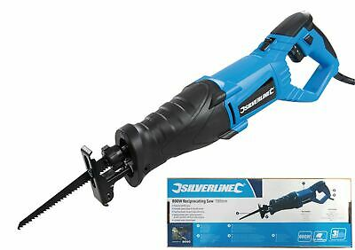 Silverline 240v Reciprocating Saw Variable Speed 800w Recip Sawing Cutting Tool