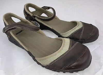 69eb16647b7811 Teva 4188 Westwater Womens 8M Brown Gray Closed Toe Sandals Mary Jane Shoes