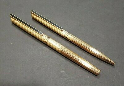 Waterman Directeur General Fountain Pen Ballpoint Set 18K Gold Nib Gold Plated