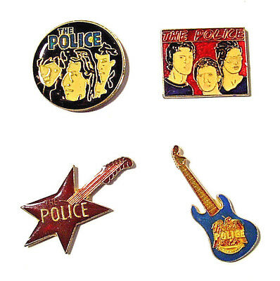 THE POLICE VINTAGE Enamel pins from the 80's - Sting Summers