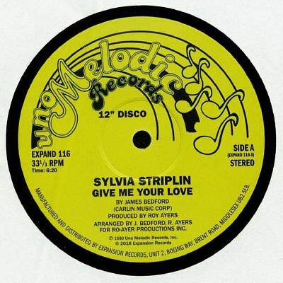 Sylvia Striplin '' Give Me Your Love '' / '' You Can't Turn Me Away '' New Uk 12